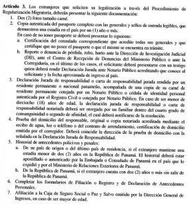 Gobierno-Panama-decreto-regularizacion-migratoria