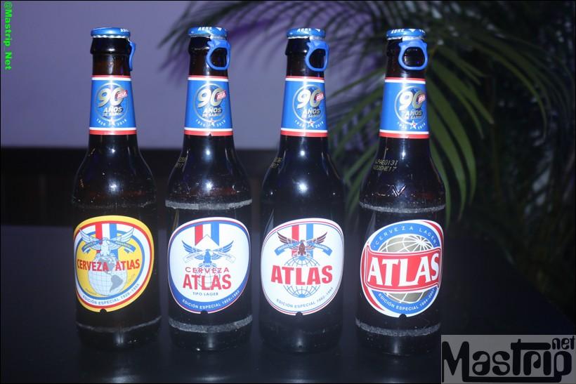 botellas de CERVEZA ATLAS CELEBRA 90 AÑOS