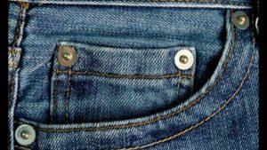 botoncitos de los pantalones vaqueros