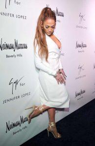 Jennifer Lopez en la presentaciòn de su nueva colecciòn de zapatos