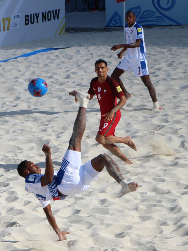 Panamá se estrenó en la Copa Mundial de Fútbol Playa Bahamas 2017 con una derrota ante Portugal, por 0 a 7.